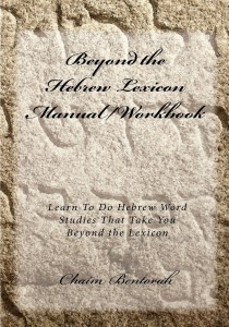 Beyond the Hebrew Lexicon Manual-Workbook